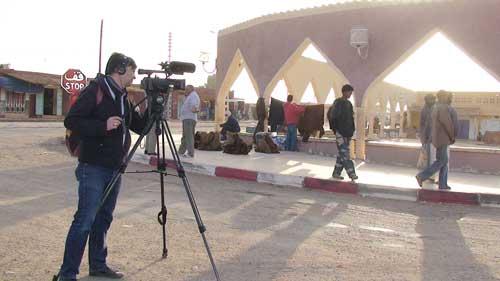"""tournage de """"vent de sable"""" à Reggane - Hervé Portanguen"""